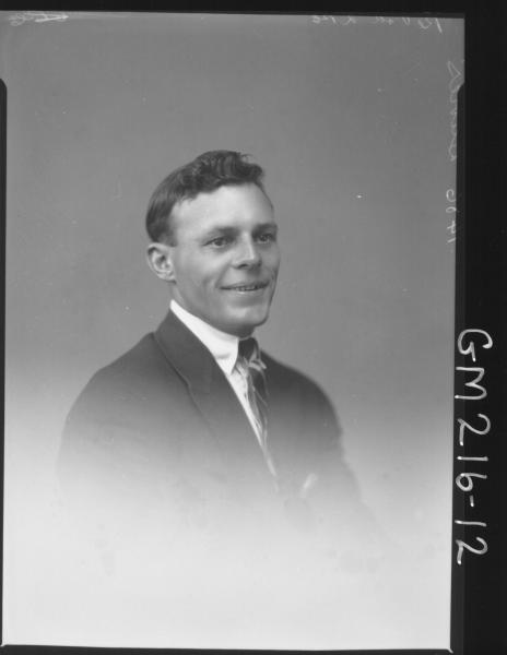 Portrait of man, 'Davies'