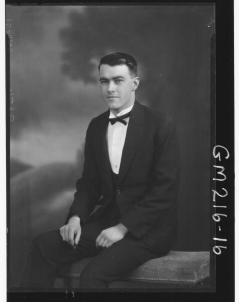 Portrait of man, 'Darcy'