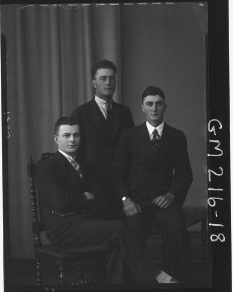 Portrait of three men, 'Doyle'