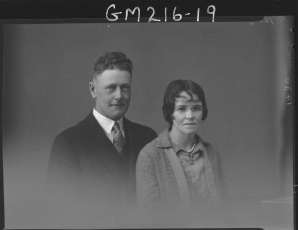 Portrait of man and woman, 'Duckworth'