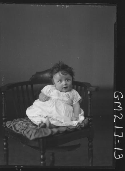Portrait of baby 'Mosely'