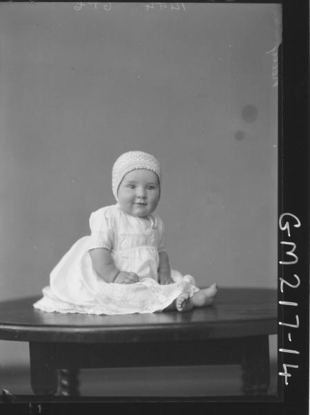 Portrait of baby 'Kelly'