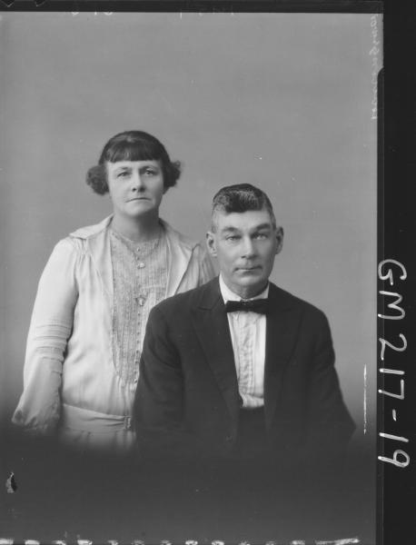 Portrait of man and woman 'Hollingsworth'