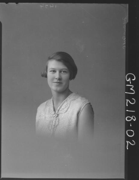 Portrait of woman 'Mowe'