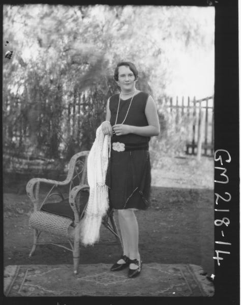 Woman in garden  'Moore'