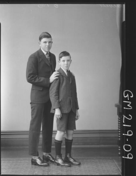 Portrait of two boys 'Devitt'