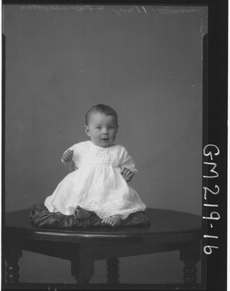 Portrait of baby 'Butcher'