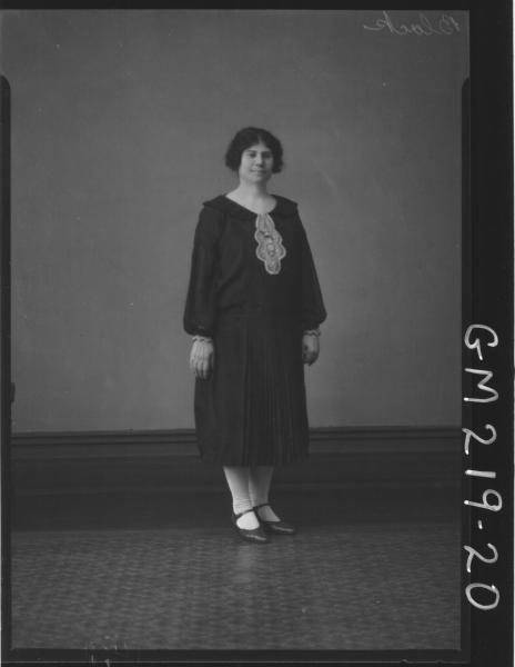 Portrait of woman 'Black'