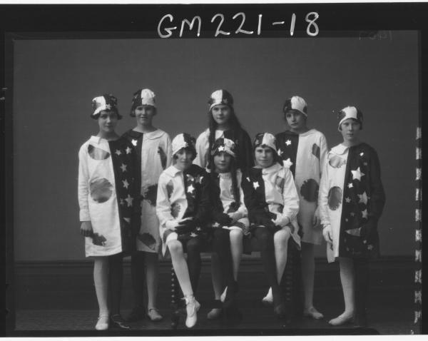 Portrait of group in Fancy dress