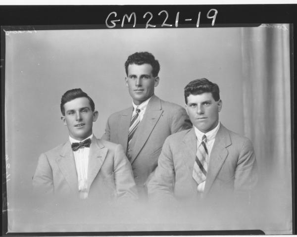 Portrait of three men 'Dori'