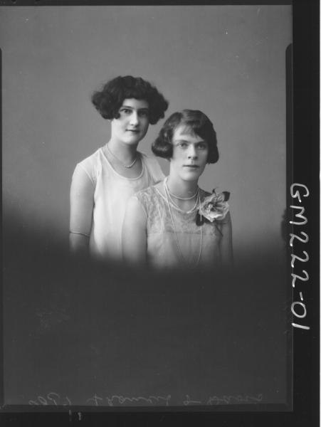 Portrait of two women 'Francis' & 'Davis'