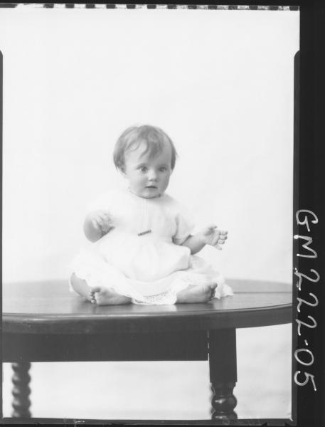 Portrait of baby 'Dickman'