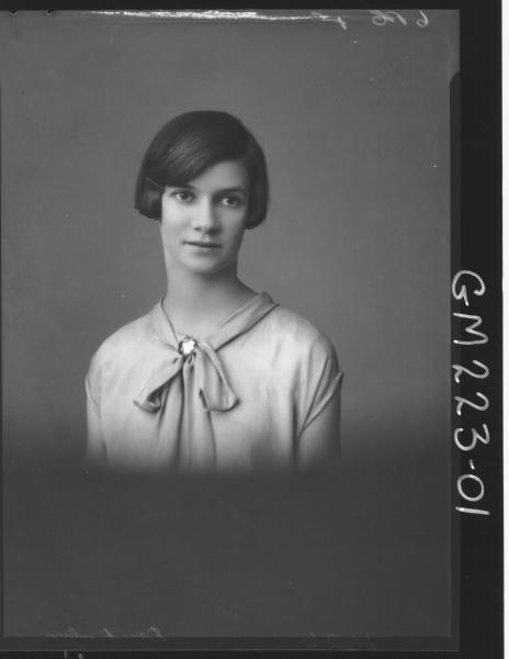 Portrait of woman 'Denholm'
