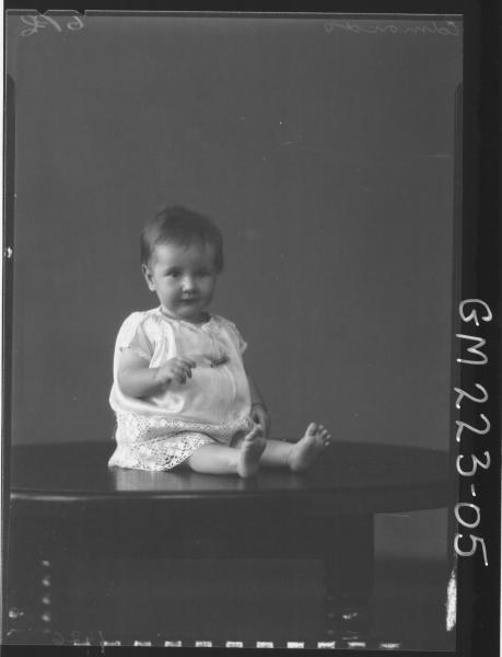 Portrait of baby 'Edmonds'