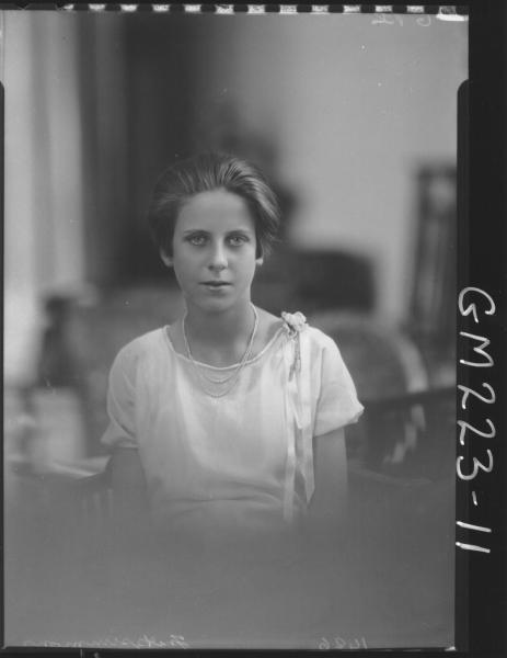 Portrait of woman 'Fitzsimmons'