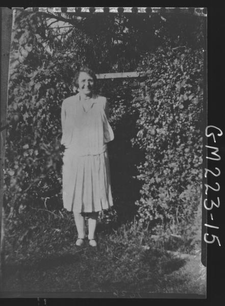 Portrait of woman in garden 'Finch'