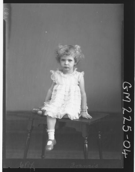 Portrait of child 'Francis'