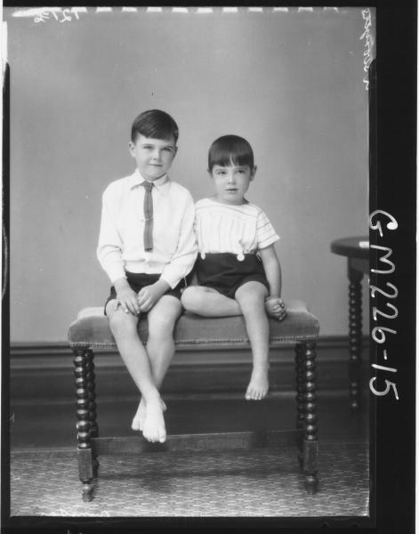 Portrait of two children 'Dunstan'
