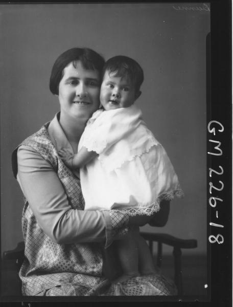 Portrait of woman and baby 'Dunne'