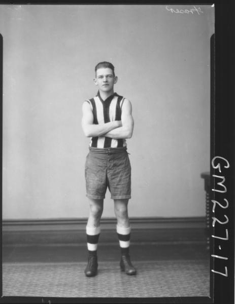 Portrait of footballer 'Fraser'