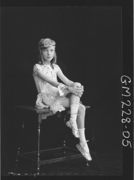Portrait of girl Fancy dress 'McLeod'