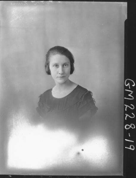 Portrait of woman 'Cruse'