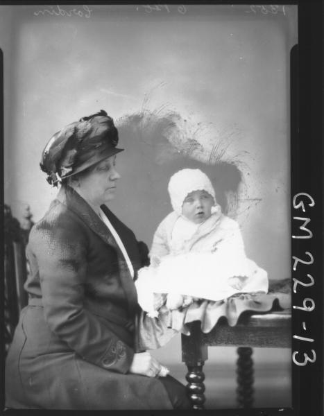 Portrait of woman and baby 'Cordin'