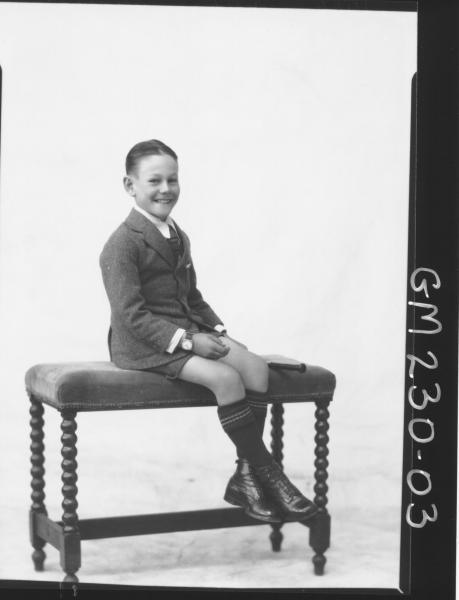 Portrait of boy 'James'