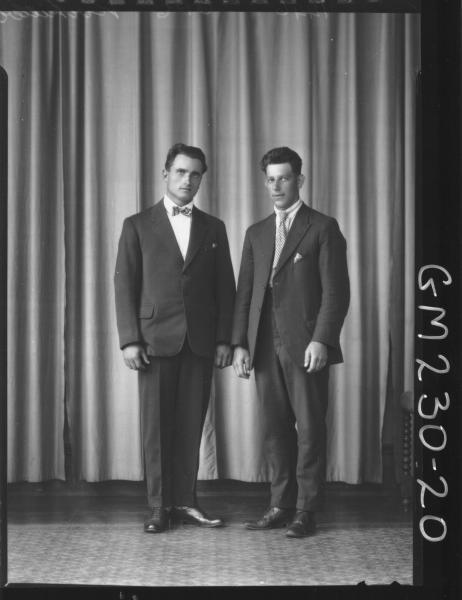 Portrait of two men 'Kirekillere'