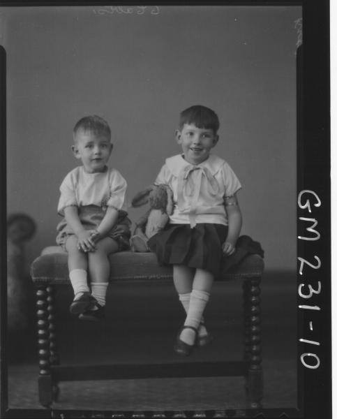 Portrait of two children 'Kretchmark'