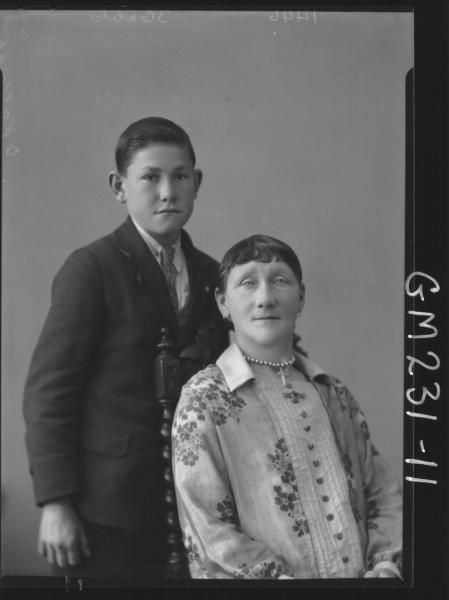 Portrait of woman and boy 'O'Kallagan'