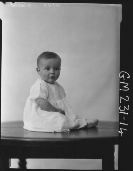 Portrait of baby 'Hicks'