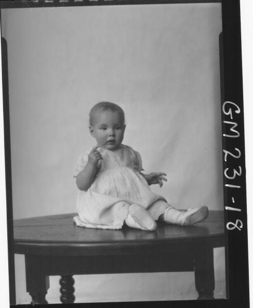 Portrait of baby 'Hewitt'