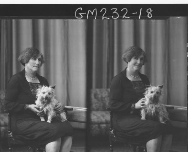 Portrait of woman and dog 'Hales'