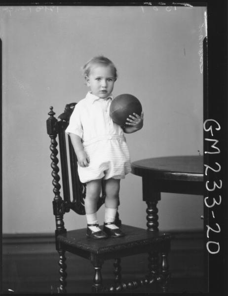 Portrait of child 'Stewart'