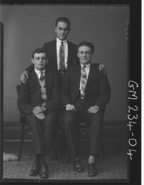 Portrait of three men 'Smith'