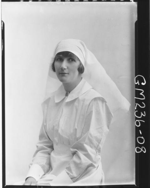Portrait of Nurse 'Kinnear'