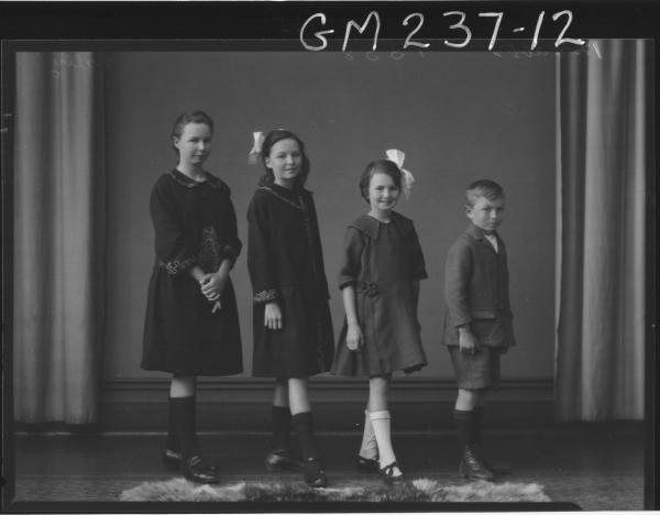 Portrait of four children 'Lally'