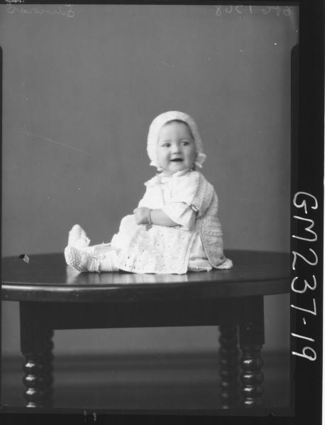 Portrait of baby 'Edwards'
