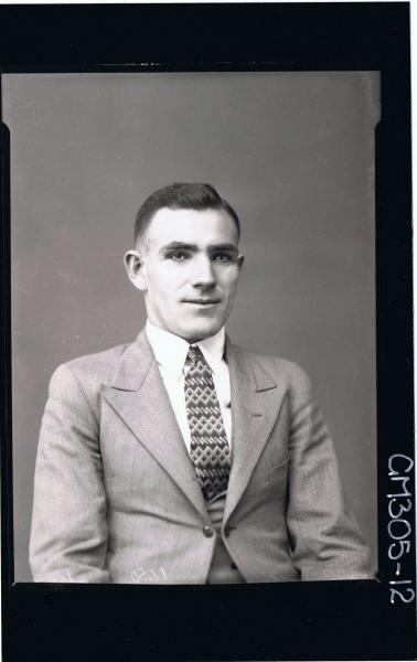 1/2 Portrait of man wearing three piece suit; 'Murray'