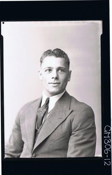 1/2 Portrait of man wearing three piece suit 'Myer'