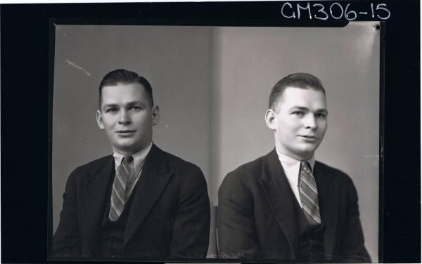 Two H/S Portraits of man wearing suit 'McHarry'
