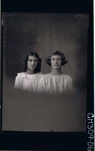 H/S Portrait of woman and teenage girl; 'Stephens'