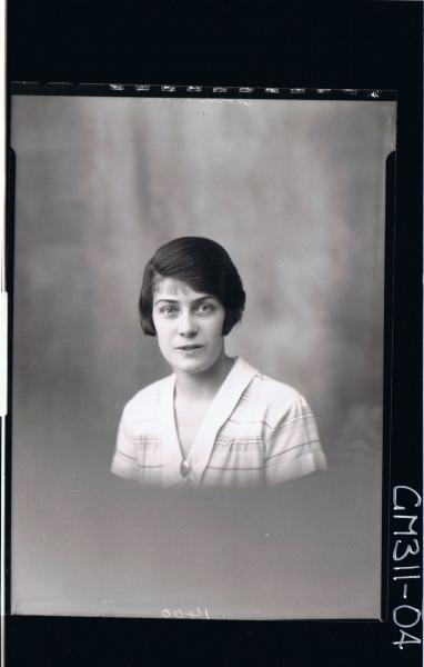 H/S Portrait of woman wearing day dress; 'Newman'
