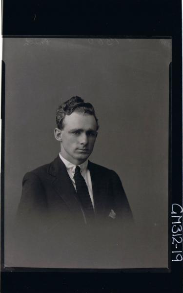 H/S Portrait of man wearing shirt, tie and jacket 'Smith'