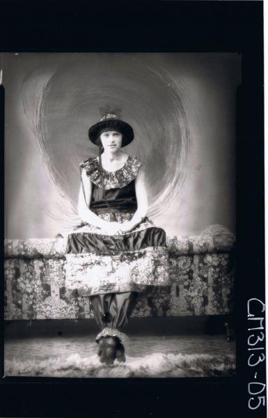 F/L Portrait of woman, seated wearing fancy dress costume 'Tuohy'
