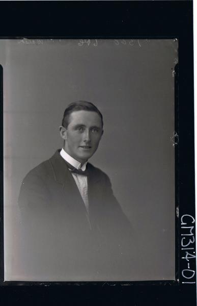 H/S Portrait of man wearing suit, jacket, bow tie (side view) 'Walsh'