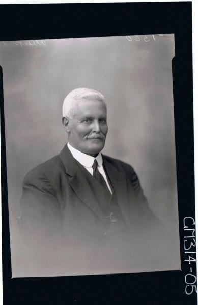 1/2 Portrait of man with moustache wearing three piece suit 'Allsop'