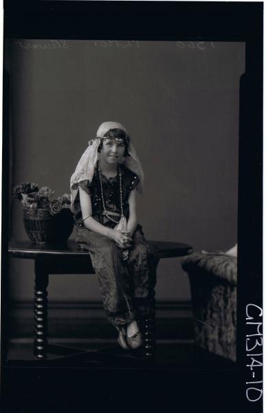 F/L Portrait of girl seated wearing fancy dress costume 'Stewart'