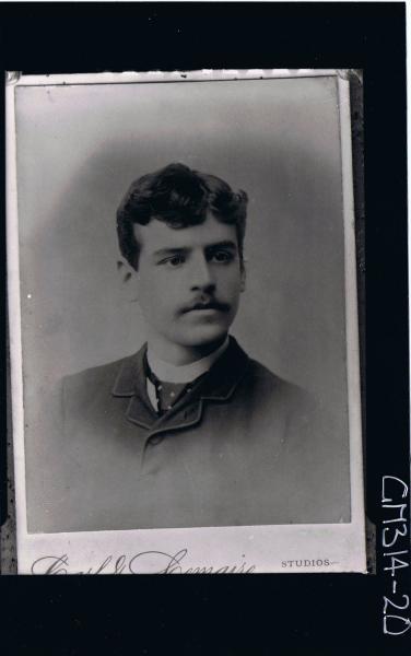 H/S Portrait of man wearing shirt, tie, jacket (copy) 'McNivon'